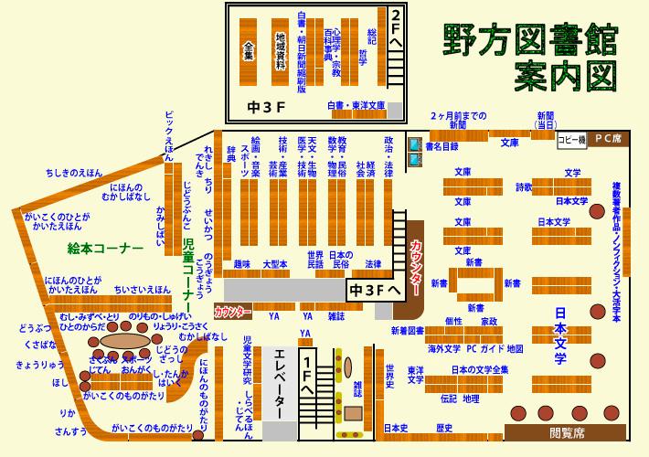 野方図書館2階の案内図